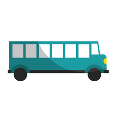 Bus transport vehicle icon vector