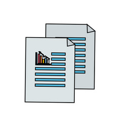 Business statistics strategy data documents vector