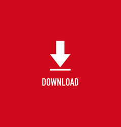 Button download icon template design vector