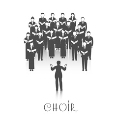 Choir Peroforrmance Black Image vector
