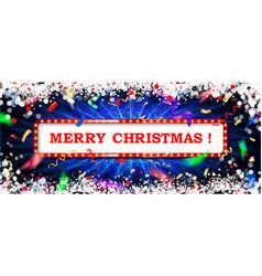 christmas banner background xmas design vector image