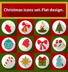 christmas icons set 12 image vector image