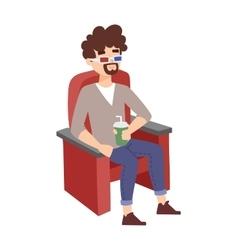 Cinema boy vector image