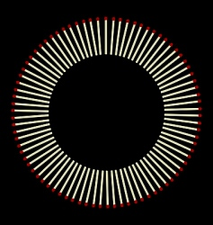 circle from matches vector image
