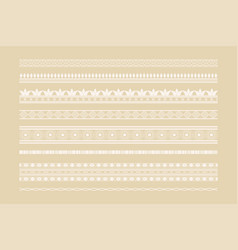 classic ethnic borders and page decoration set vector image