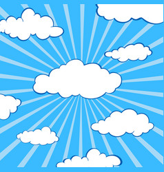 clouds stylized flat set vector image