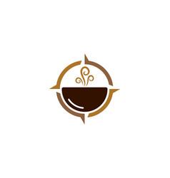 compass coffee logo icon design vector image