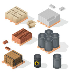 construction material isometric vector image