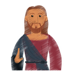 drawing jesus christ catholic symbol design vector image