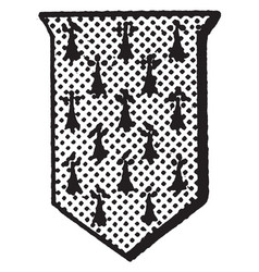 Erminois shield fur is a shield or escutcheon vector