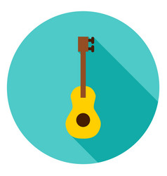 guitar circle icon vector image