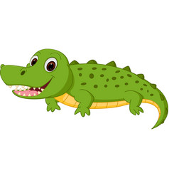 happy crocodile cartoon vector image