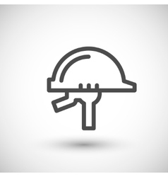 Helmet line icon vector