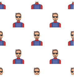 Hipster icon in cartoon style isolated on white vector