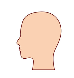 human head in colorful silhouette with brown vector image