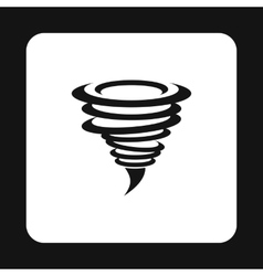 Hurricane icon simple style vector image