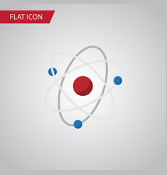 isolated atom flat icon orbit element can vector image