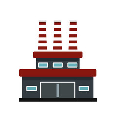 Large oil refinery icon flat style vector