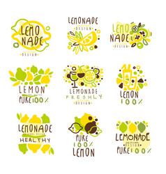 lemonade set for label design colorful vector image
