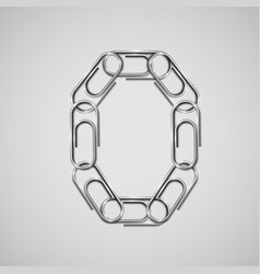Linked paperclips forming a character vector
