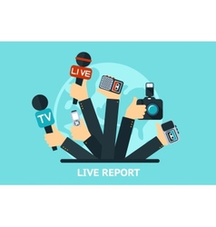 live report concept vector image
