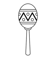 Maracas music instrument brasilian outline vector
