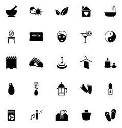 Massage icons on white background vector