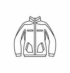 Men winter jacket icon outline style vector image