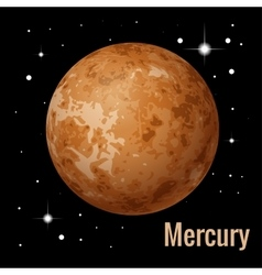 Mercury planet 3d High vector image