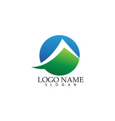 Mountain nature landscape logo and symbols icons vector
