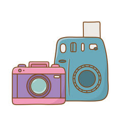 photographic cameras icon vector image
