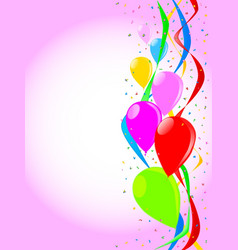 pink party background vector image