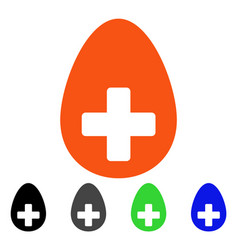 Plus egg flat icon vector