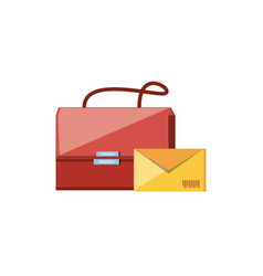 Post bag handle with envelope vector