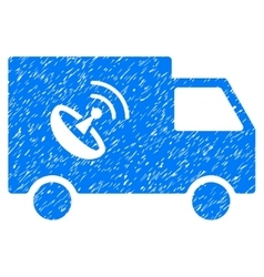 Remote Control Van Grainy Texture Icon vector