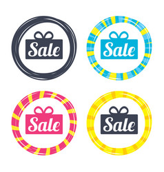 Sale gift sign icon special offer symbol vector