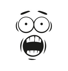 Shocked emoticon isolated emoji with open mouth vector