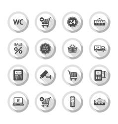 Shopping flat icons set 03 vector
