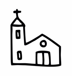 simple church vector image