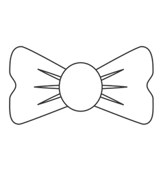 Single bowtie icon vector