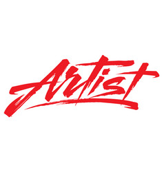 Single word artist vector