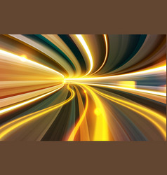 slow shutter effect through wormhole vector image