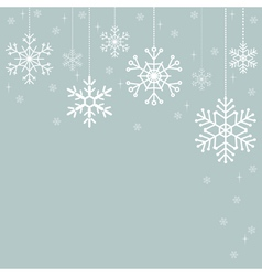 Snowflakes Christmas decorations vector