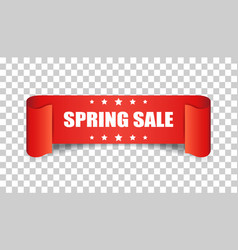 spring sale ribbon icon discount sticker label on vector image