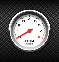 Tachometer on carbon background vector
