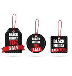 tag with black friday on it color set vector image