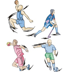 Team Sports Basketball Field hockey Handball and vector image
