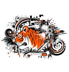 Tiger design orange vector