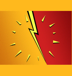 versus background pop art comics vector image