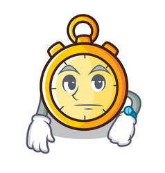 Waiting chronometer character cartoon style vector